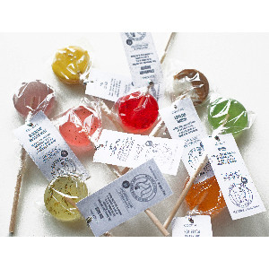 Lollipops with tags