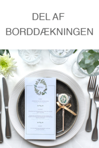 Cocktail slikkepind som bordpynt