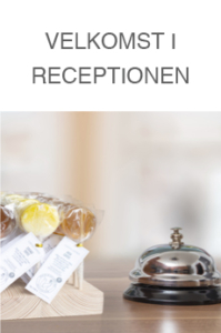 Cocktail slikkepinde i receptionen